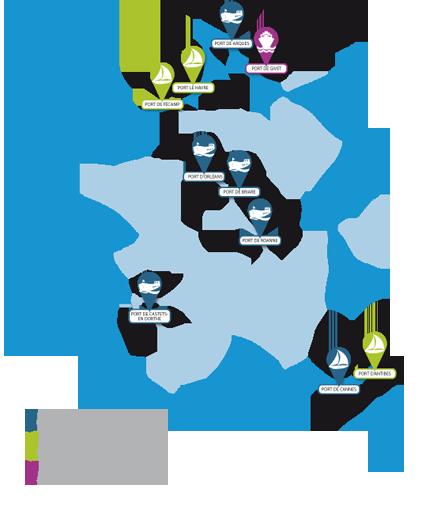 Illustration Les exploitations portuaires de Lyonnaise des Eaux